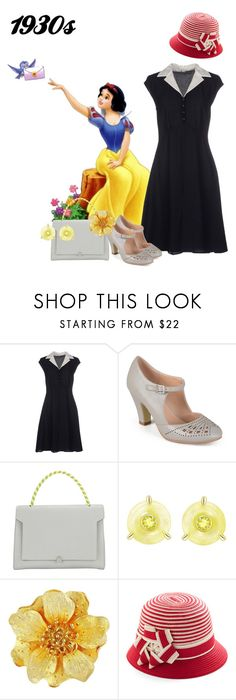 """""""Snow White and the Seven Dwarfs, 1937"""" by kimmmeo ❤ liked on Polyvore featuring Disney, Miu Miu, Journee Collection, Anya Hindmarch, Ana De Costa and Kenneth Jay Lane"""