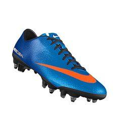 I designed this at NIKEiD. nike - soccer - cleats - blue - orange