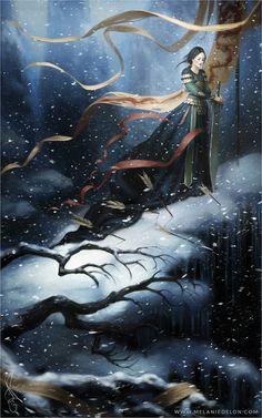 "Next one in my princess series: ""Mulan"" WEB   SHOP   ARTBOOK   FB"