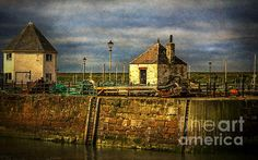 The Harbour At Maryport by Ian Lewis Cumbria, Coast, Wall Art, Image, Seaside, Wall Decor