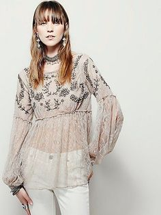 Free People Unicorn Lace Top at Free People Clothing Boutique