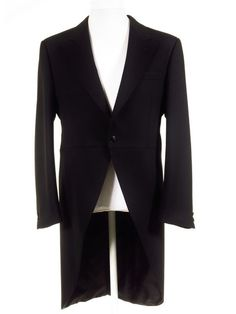 Ex-Hire Tailcoat - Wilvorst Black Wool Morning Suit Coat - All Sizes Classic Royal Ascot morning dress for men at Tweedmans. Morning Coat, Morning Dress, Morning Suits, Wedding Coat, Wedding Suits, Retro Outfits, Vintage Outfits, Ascot Outfits, Father Of The Bride Outfit