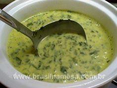Creme de Legumes com Couve e Manjericão