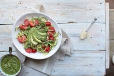 Courgetti with Avocado and Watercress Pesto