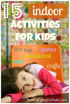 indoor activities for kids roundup --> I am ALWAYS up for finding new indoor activities for my kids. . . esp bc spring brings so many rainy days!