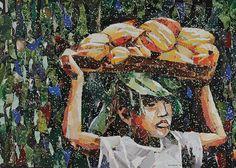 AA Newsletter 2016 John Vusi Mfupi, Fresh Produce, Magazine collage on paper, 76 x 120 cm. Magazine Collage, News Articles, Ash, Conversation, Digital, Paper, Life, Gray
