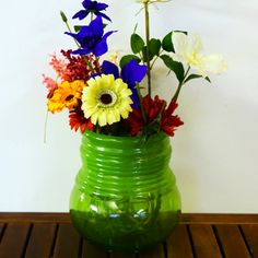 Grehom Recycled Glass Vase - Meadow