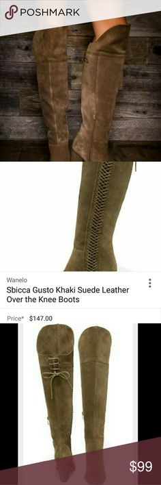 New Sbicca Over the Knee Suede Boots New Sbicca Over the Knee Suede Boots. Khaki-Brown. Sbicca Shoes