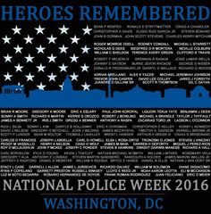 ***HONORING OUR 2015 FALLEN HEROES***   https://www.bonfirefunds.com/2016-police-week-fallen-heroes-roll-call  The Blue Alert Foundation and Blue Line Across America are pleased to offer this 'Limited Edition' National Police Week 2016 Honor Roll shirt to serve as a 'walking memorial' to the men and woman who gave their lives in the line of duty during 2015.