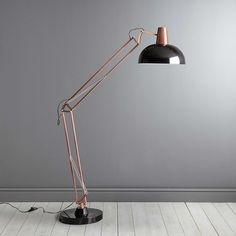 Watson Bronze and Black Floor Lamp | Dunelm