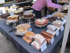 fresh baked goods at the farmers market