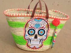 Panier plage mexican skull