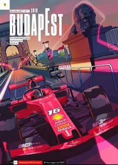 Scuderia Ferrari - Hungarian Grand Prix cover art by French Carlomagno Sport Cars, Race Cars, Ferrari Black, F1 Wallpaper Hd, Wallpapers, Ferrari 812 Superfast, Hungarian Grand Prix, Gp F1, Formula 1 Car