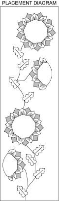 Sunflower knit Afghan Pattern