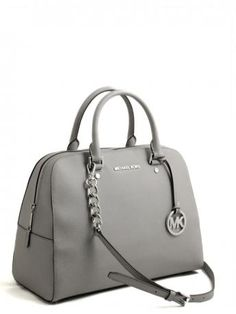 Michael Kors-jet set travel satchel bag pearl grey-borsa jet set travel  satchel grigio perla b55512bf193