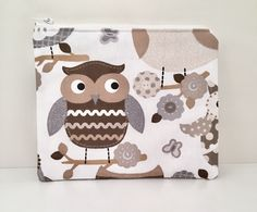 Excited to share this item from my #etsy shop: Owl zipped pouch / make up bag / makeup bag / cosmetic pouch