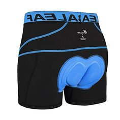 Baleaf Men's 3D Padded Bike Bicycle MTB Cycling Underwear Shorts (Blue, XXXL) - http://www.exercisejoy.com/baleaf-mens-3d-padded-bike-bicycle-mtb-cycling-underwear-shorts-blue-xxxl/cycling/