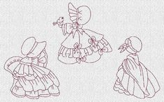 INSTANT DOWNLOAD Sunbonnet Sue Down South por embroiderygirl
