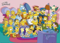 A great poster from The Simpsons! The cast tunes in for another episode of the classic Matt Groening TV sitcom. Check out the rest of our excellent selection of The Simpsons posters! Need Poster Mounts. The Simpsons Tv Show, Die Simpsons, Simpsons Cartoon, Simpsons Characters, Cartoon Tv, Cartoon Shows, Homer Simpson, Simpson Tv, Lisa Simpson