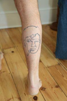 Bill Hicks tattoo / One Line Art / Right Calf tattoo