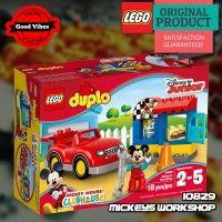 LEGO 10829 Mickeys Workshop DUPLO Mainan Edukasi Anak Disney Original #thekingbricks #theking #thekingid #kingbricks #gvonline #uhappyihappy #tokolegoterpercaya #tokomainanoriginal #lego10829 Lego Duplo Sets, Lego Ninjago, Workshop, Mint, Box, Disney, Atelier, Snare Drum, Work Shop Garage