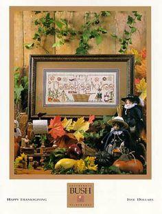 Happy Thanksgiving by Shepherds Bush - Thanksgiving cross stitch patterns