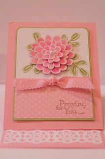 I'm ordering Stampin Up's flower fest stamp set so I can make this card!