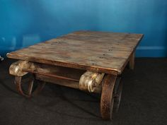 Rustic Wheels for Coffee Table
