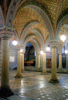 Cathedral crypt in Pecs, Hungary