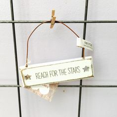 Sass and Belle Shabby Chic Small Reach For The Stars Plaque | eBay