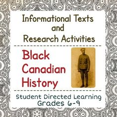 Canadian Canada Black History Reading Passages and Activities Black Canadian History, Black History, Black Canadians, Informational Texts, War Of 1812, Reading Passages, Social Studies, Ann, Internet