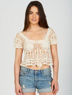 Crochet Midsummer top by Anna Kosturova