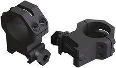 Weaver 30mm Four Hole Skeleton Riflescope Rings Med Matte Black 48365