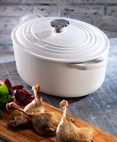 My next Le Creuset treasure will be a white 9 quart oval Dutch oven...