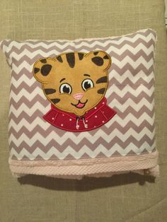Daniel Tiger Hooded Bath Towel, Infant and Children's Hooded Bath Towel by MarysCottonShoppe on Etsy