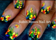DIY Flower Nails - Flower Nail Designs