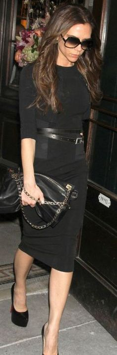 Shoes - Christian Louboutin Dress and purse - Victoria Beckham Collection