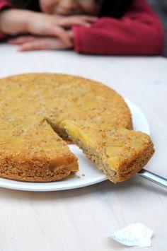 gateau-pommes-coupe. Mélange maison de farines sans gluten