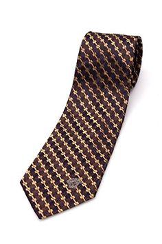 Versace Collection Men Slim Silk Neck Tie CR8LSEB0740 0004 Brown Gold Men's Fashion * For more information, visit image link.