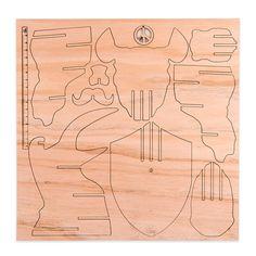 cabeza rinoceronte 3d encastrable madera paraiso decoracion