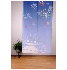 Made in Japan Noren Curtain Tapestry Studio Ghibuli Totoro Fireworks | eBay