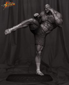 Street fighter - Sagat by Guillermo Empinado | Fan Art | 3D | CGSociety