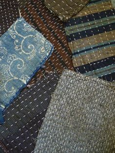 Zokin are traditional Japanese dust rags which are hand stitched from leftover or re-purposed cotton cloth.