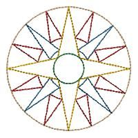 Mariner S Compass Design | Mariners Compass Quilt Blocks ~ 5 Inch