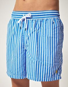 green striped polo ralph lauren swim shorts blue