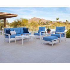 Prescott 6-piece Deep Seating Set POLYWOOD