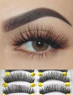 he False eyelashes are Specialized made by hand จำ. Artificial Eyelashes, Fake Lashes, False Eyelashes, Silk Lashes, Makeup Tips, Beauty Makeup, Eye Makeup, Beauty Tips, Make Up