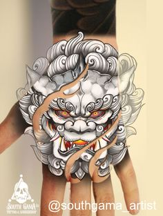 Japanese Hand Tattoos, Japanese Dragon Tattoos, Japanese Tattoo Designs, Dragon Tattoo For Hand, Japanese Tattoo Artist, Dragon Tattoo Art, Oni Tattoo, Hanya Tattoo, Samurai Tattoo