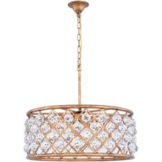 """Madison 25"""" Crystal Pendant Chandelier with 6 Lights (1214D25)"""