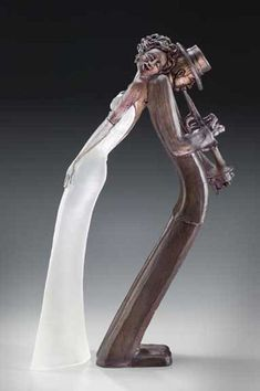 Glass sculpture by Leah Wingfield and Steve Clements